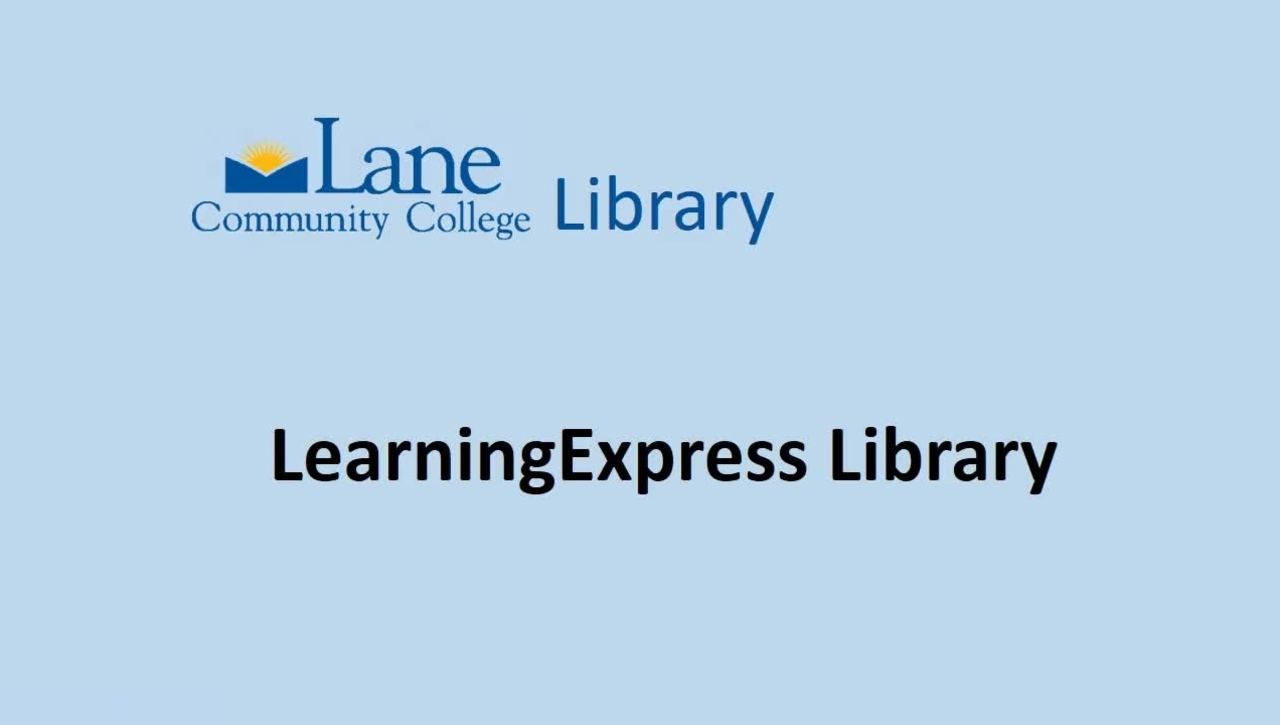 LCC Library's Learning Express