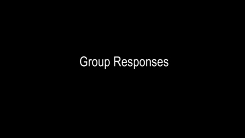 Thumbnail for entry CCPD Day 1 Number 3- Group Responses