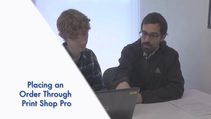 How to Make a Order on Print Shop Pro