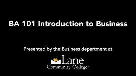 Thumbnail for entry BA101 All Things Legal: Business Law, David Sheer