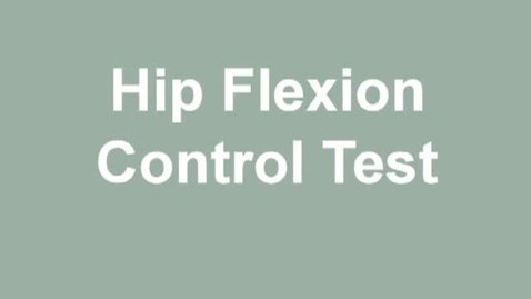 Thumbnail for entry hip flexion control