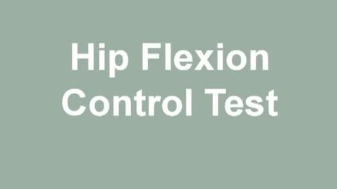 Thumbnail for entry hip flexion control