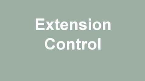 Thumbnail for entry extension control