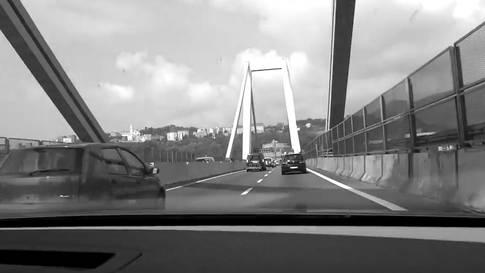Fahrt über die Morandi-Brücke im Jahr 2012