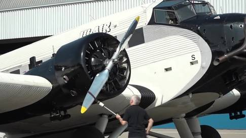 Die Ju-Air ist abflugbereit