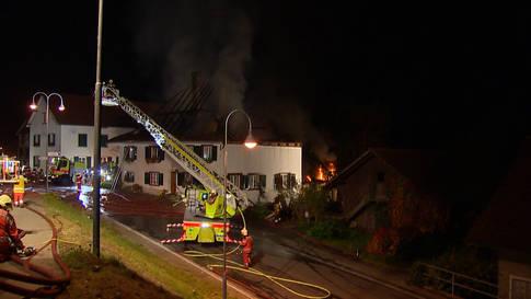 Wohnhaus und Scheune in Niederneunforn total abgebrannt