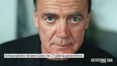 Schauspieler Bruno Ganz 77-jährig gestorben