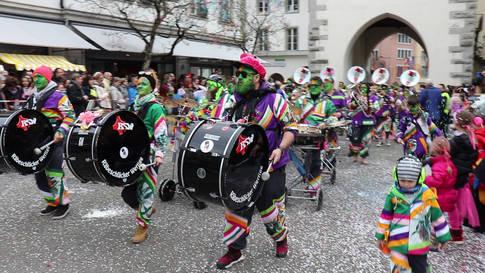 Fasnacht im Aargau 2020: Umzug in Baden