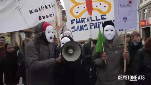 Demonstration von Sans Papiers in Basel