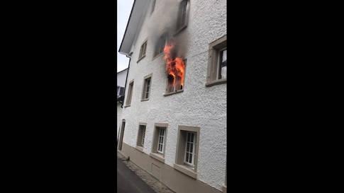 Feuer im Gasthaus Schlüssel in der Bad Zurzacher Altstadt