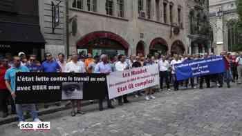 Genfer Taxifahrer demonstrieren gegen Uber