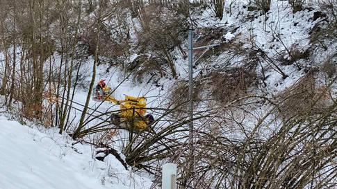 BDWM: die Situation der Bahnstrecke zwischen Wohlen und Bremgarten am Freitag, 22. Januar 2021