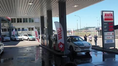 Wasserstoff an Schweizer Tankstellen
