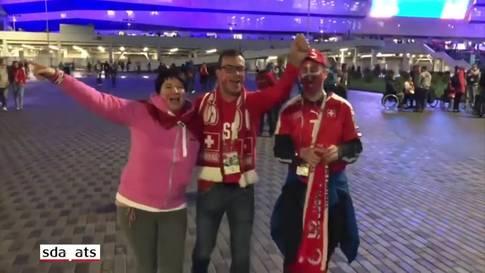 Fussball-WM: Die Schweizer feiern den ersten Sieg in Russland