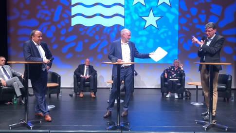Podium Regierungsratskandidaten: Das dritte Duell - Egli gegen Dieth