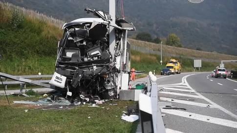 Busunglück im Tessin fordert mehrere Verletzte