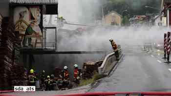 Brand in einer Sägerei in Sattel SZ