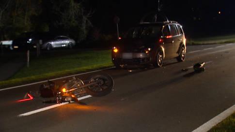 66-Jähriger prallt gegen 16-jährigen Motorradfahrer