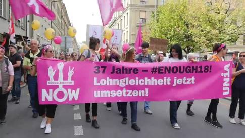 D-Kundgebung für Lohngleichheit in Bern