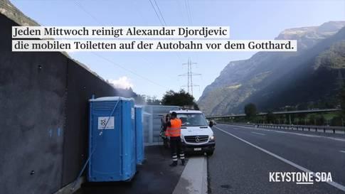 Auf Toilettentour vor dem Gotthard