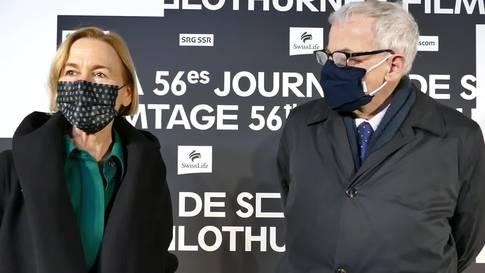 Susanne Schaffner und Kurt Fluri an der «kleinen» Eröffnung der 56. Solothurner Filmtage