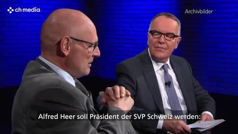 Nachfolger von Rösti? SVP Zürich nominiert Alfred Heer fürs Schweizer Parteipräsidium
