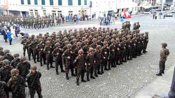 Die Infanterie-Durchdiener verabschiedeten sich aus dem Aargau