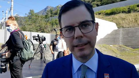 Einweihung Ceneri-Basistunnel: Interview mitMichael Güntner, Staatssekretär im Bundesministerium für Verkehr und digitale Infrastruktur der Bundesrepublik Deutschland