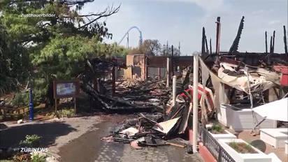 So Sieht Es Im Europapark Nach Dem Brand Aus Ausland Az Aargauer