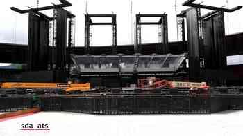 So sieht es im Letzigrundstadion vor dem Stones-Konzert aus
