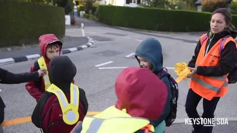 Pedibus begleitet seit 20 Jahren Kinder auf dem Schulweg