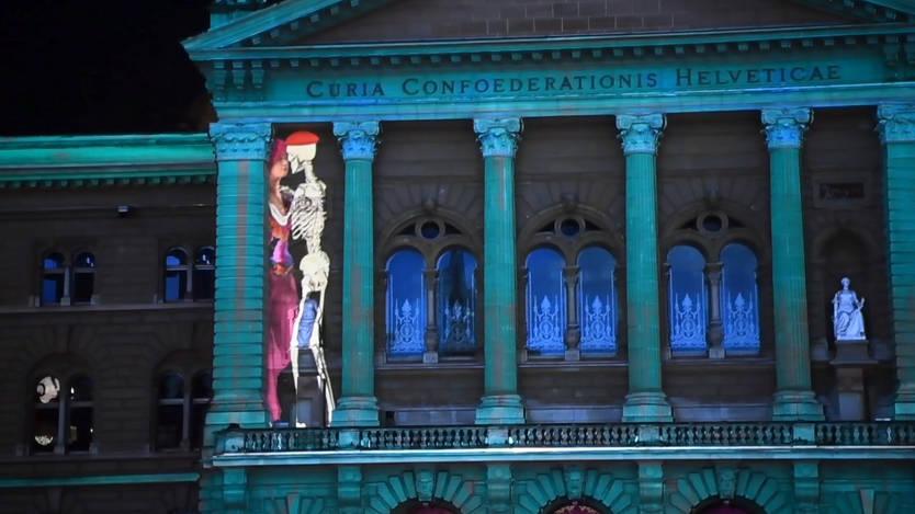 Bundeshaus Beleuchtung 2016 | Lichtshow Warum Am Bundeshaus Skelette Tanzen Schweiz Az