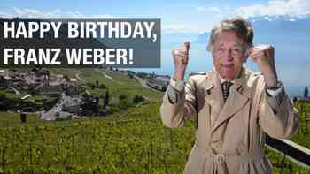 Franz Weber wird 90 Jahre alt