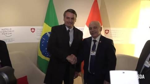 Ueli Maurer trifft Jair Bolsonaro am WEF