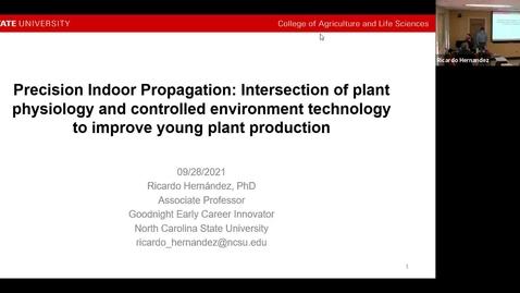 Thumbnail for entry Horticulture Seminar - Dr. Ricardo Hernandez 9/29/21