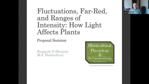 Thumbnail for entry Horticulture Seminar - Ruqayah Bhuiyan