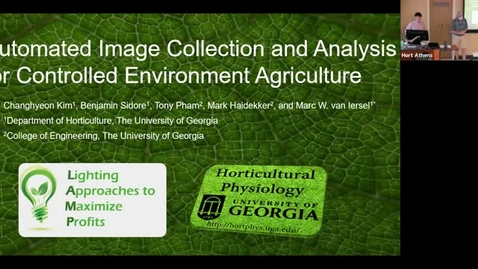 Thumbnail for entry Horticulture Seminar - Changhyeon Kim 9/1/21