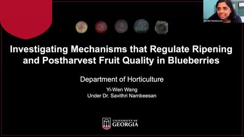 Thumbnail for entry Horticulture  Seminar - Yi-Wen Wang 3/24/21
