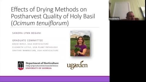 Thumbnail for entry Horticulture Seminar - Sandra Begani 3/10/21