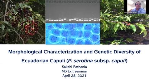 Thumbnail for entry Horticulture Seminar - Sakshi Pathana 4/28/21