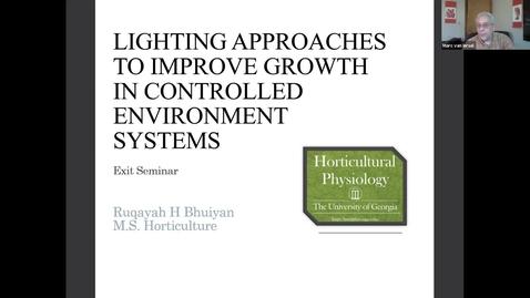 Thumbnail for entry Horticulture  Seminar - Ruqayah Bhuiyan 4/8/21
