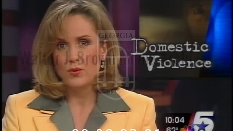Thumbnail for entry KXAS-TV News (Fort Worth, Tex.). 1999-11--excerpts, Domestic Violence: Taking Action | 1 of 1 | 99261dct