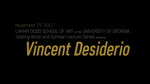 Thumbnail for entry VAS Lecture: Vincent Desiderio