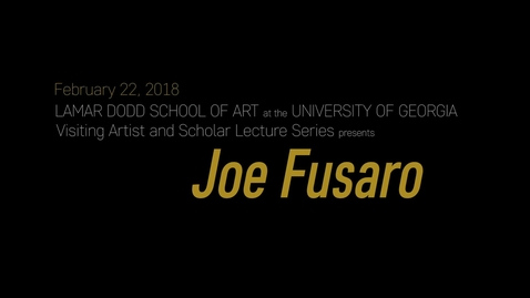 Thumbnail for entry VAS Lecture: Joe Fusaro