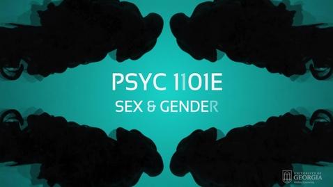 Thumbnail for entry Sex & Gender
