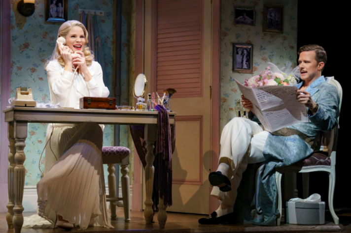 Figure 3. Kelli O'Hara as Lilli/Kate and Will Chase as Fred/Petruchio . Photo credit: Joan Marcus.