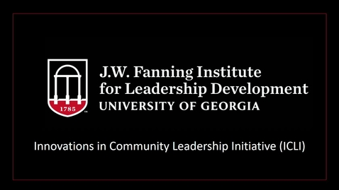 Thumbnail for entry 2021 Innovations in Community Leadership Initiative Webinar