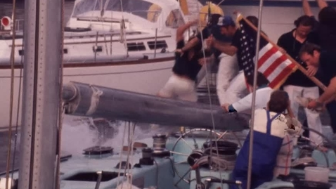Thumbnail for entry Ted Turner's Americas Cup Winning Crew Celebrates Victory