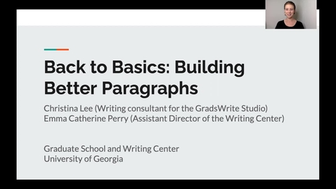 Thumbnail for entry 2. Back to Basics: Paragraphs
