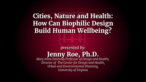 Thumbnail for entry CED Lecture_Jenny Roe.mp4